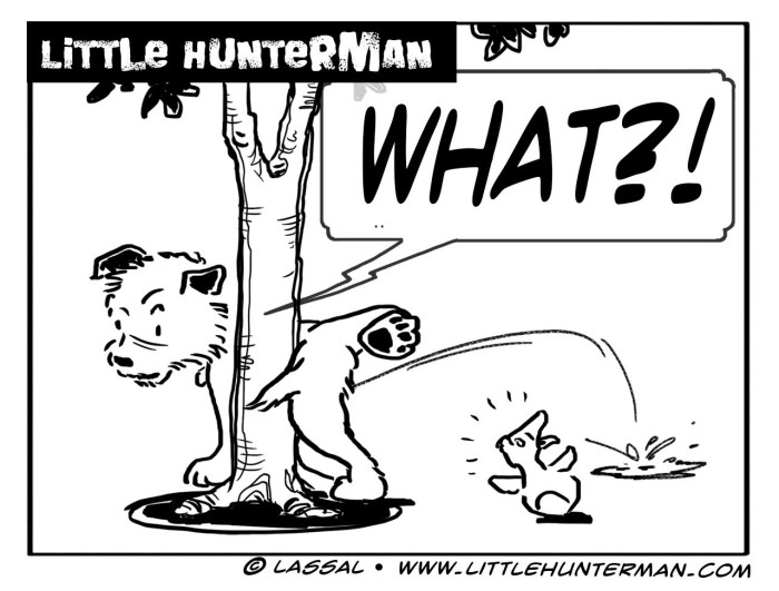 Little Hunterman Daily Cartoons 2014-02-21, Keeping one's balance