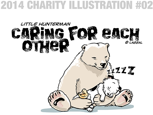 Little Hunterman Daily Cartoons 2014-02-15, charitable illustration #02