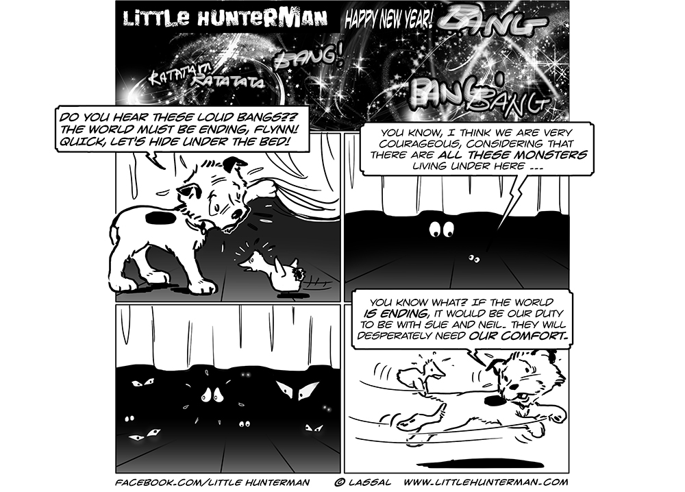Little Hunterman Daily Cartoons 2013-12-31, The World is Ending