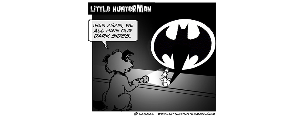 Little Hunterman Daily Cartoons 2014-01-27, Everyone has a dark side