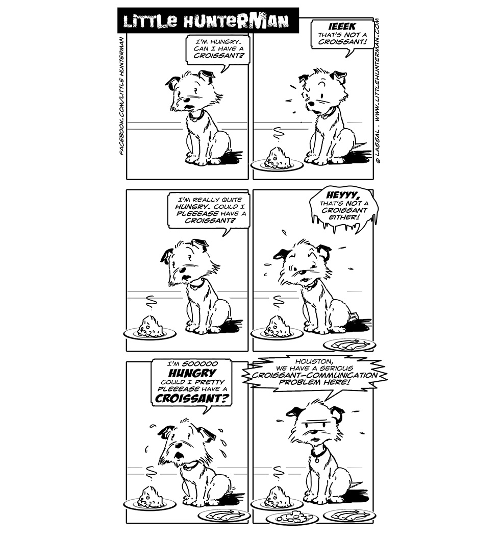Little Hunterman Daily Cartoons 2014-03-06, Houston, we have a problem...