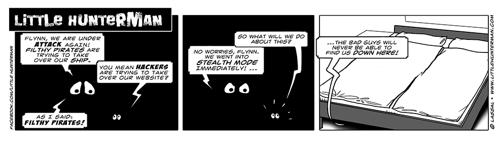 Little Hunterman Daily Cartoons 2014-03-07, stealth mode