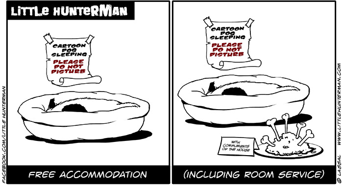 Little Hunterman Daily Cartoons 2014-03-21, Free Accommodation Service