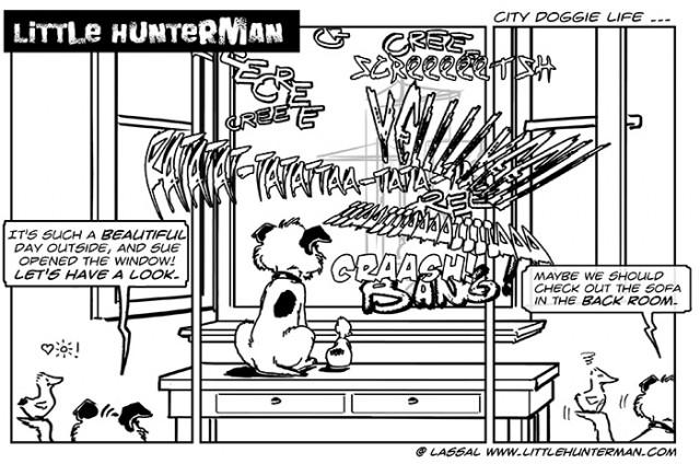Little Hunterman – city doggie life