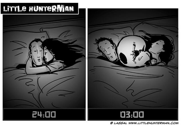 Little Hunterman - sleeping positions 01